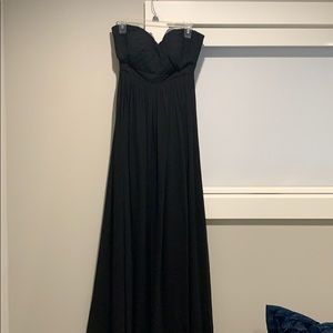 Jenny yoo black strapless gown, worn once